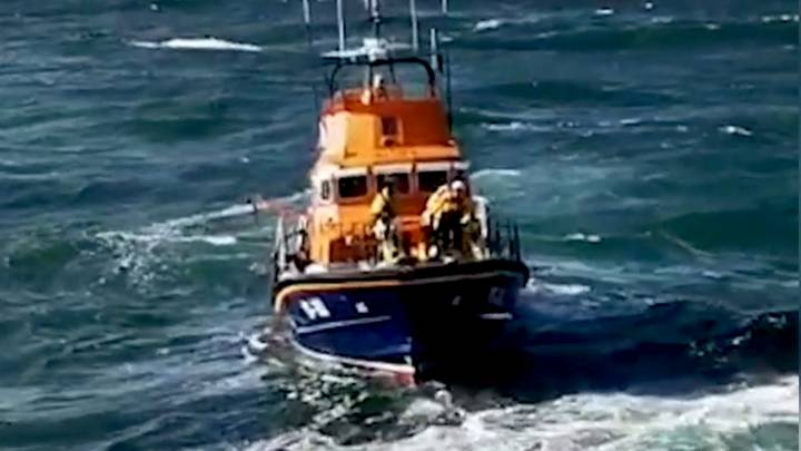 RNLI Volunteer Throws Himself Into The Sea To Save Teenager's Life