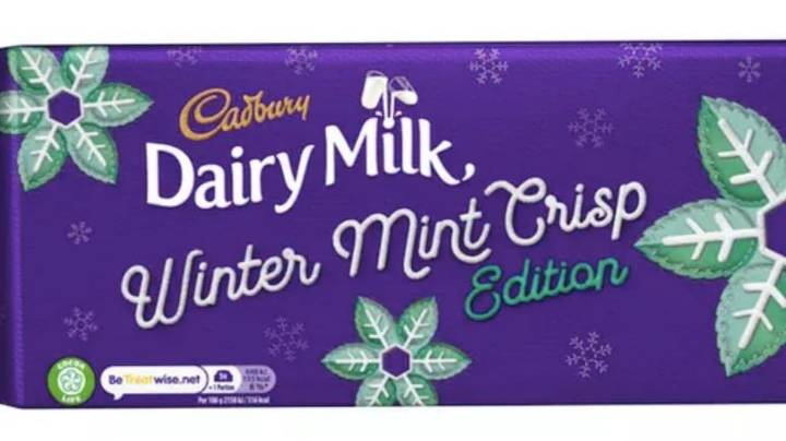 Cadbury Is Launching A Dairy Milk Winter Mint Bar For Christmas