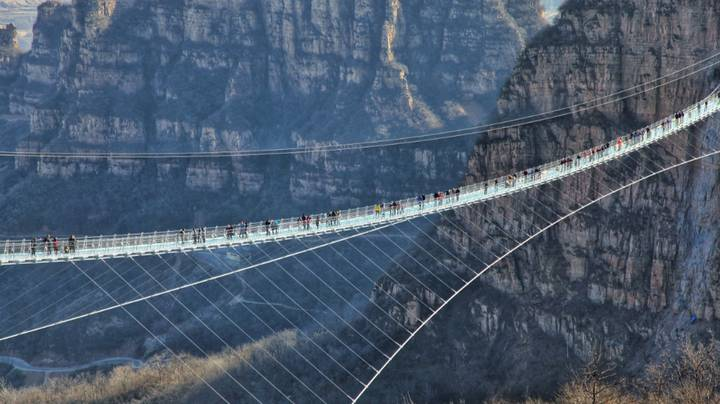 The World's Longest Glass Bridge Opens In China – And It's 755 Ft High