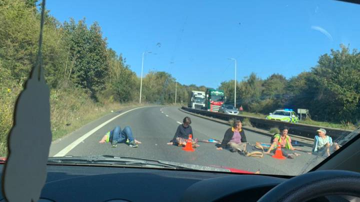 Extinction Rebellion Protestors Superglue Themselves To Road In Dover