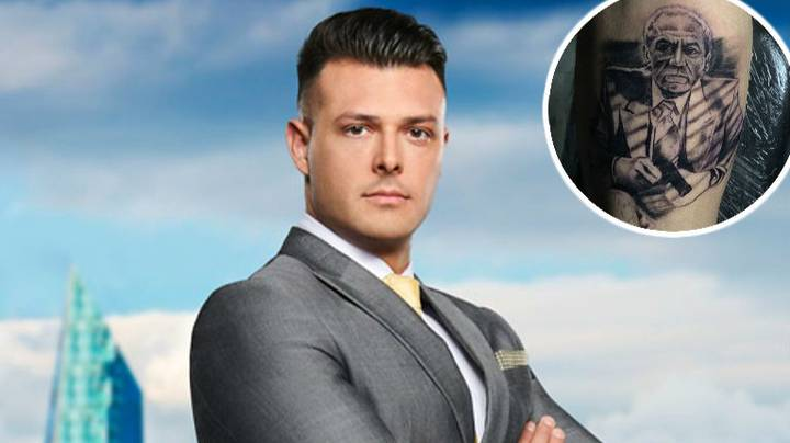 Lewis Ellis From The Apprentice Gets Tattoo Of Alan Sugar As Al Pacino