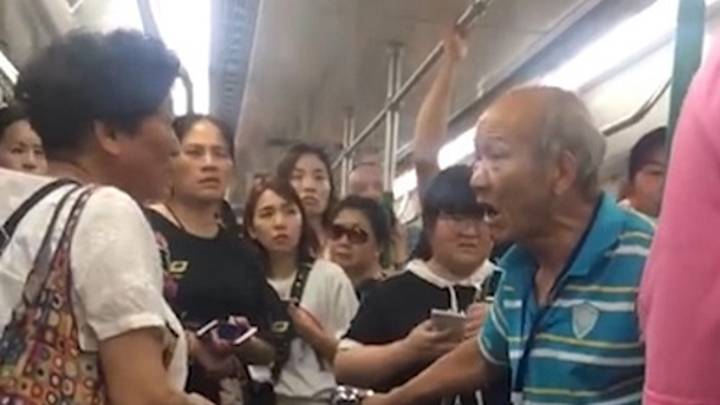Pensioner Furiously Slaps Woman After She Refuses To Give Up Her Seat On Subway