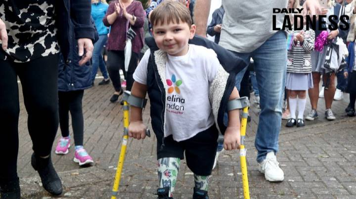Boy, Five, Raises £1 Million For NHS Completing Walk On Prosthetic Legs
