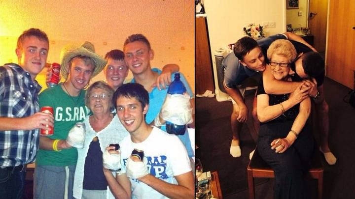 80-Year-Old 'LADGran' Absolutely Loves The Sesh With Her Grandson And His Mates