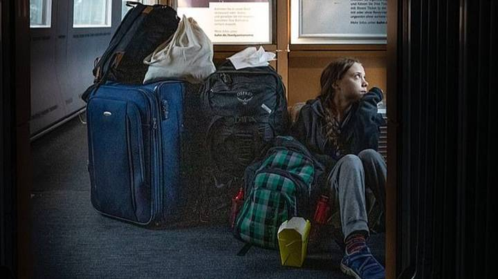 Greta Thunberg Argues With German Train Company After 'Overcrowded' Train Photo