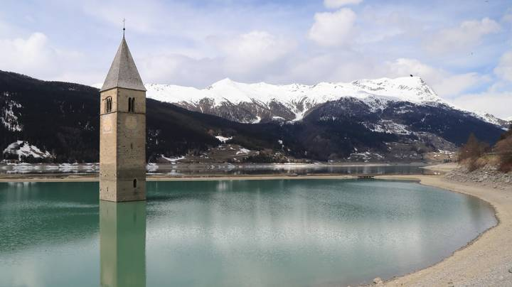 Lost Village In Italy Re-Emerges From Lake For First Time In 70 Years