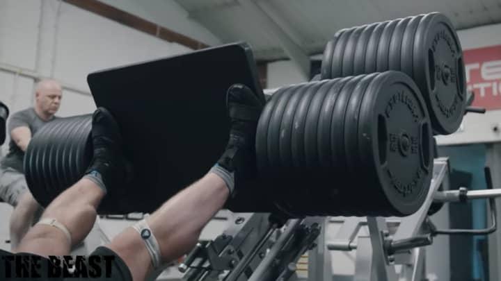 Eddie Hall 'Passes Out' While Leg Pressing 1,000kg