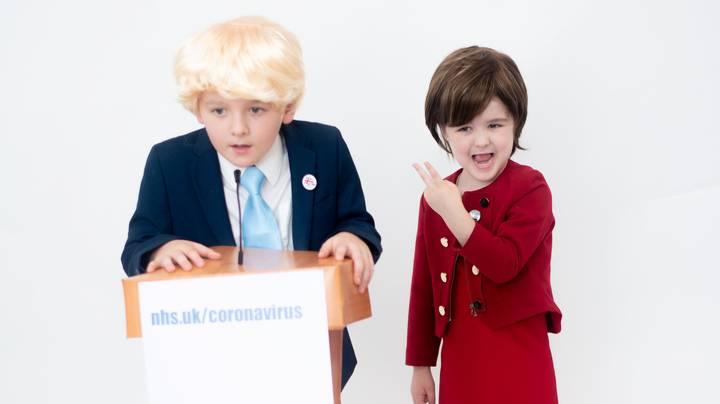 Kids Dress Up As Boris Johnson And Nicola Sturgeon For Halloween