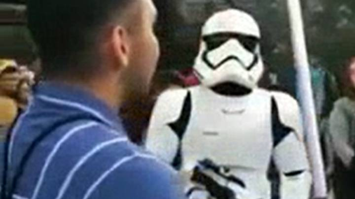Lightsaber-Wielding Star Wars Fan Destroyed By Stormtrooper At Disneyland