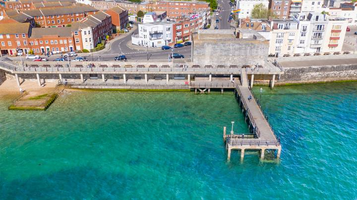 Drone Photos Show Sea Around Portsmouth Looking Like A Tropical Paradise