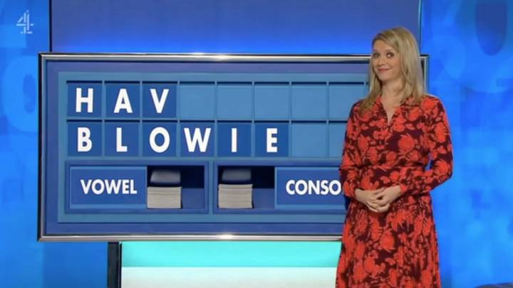 Rachel Riley Has To Put The Word 'Blowie' On The Countdown Board
