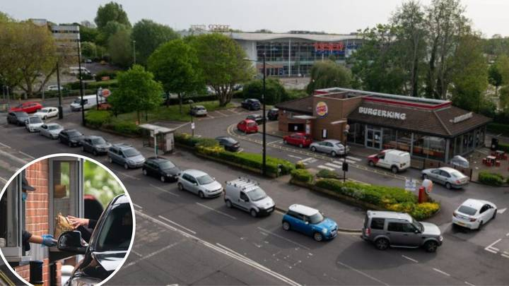 Huge Queue At First Burger King Drive-Thru To Reopen For Takeaways