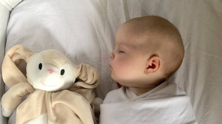 Mum Left Stunned By Dad's Method Of Getting Baby To Sleep