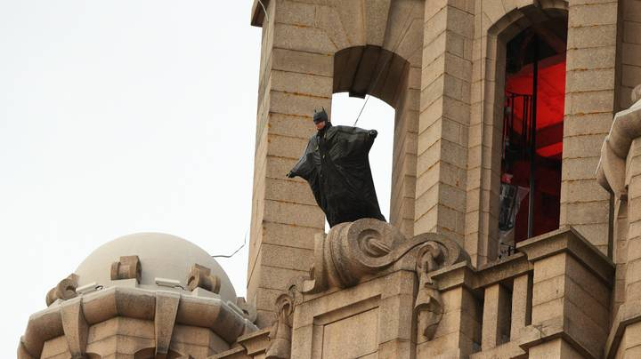 Batman Spotted On Top Of Liver Building In Liverpool As Filming Continues