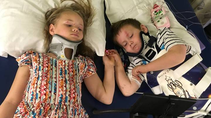 Heartbreaking Picture Shows Siblings Reunited After Surviving Crash That Killed Parents