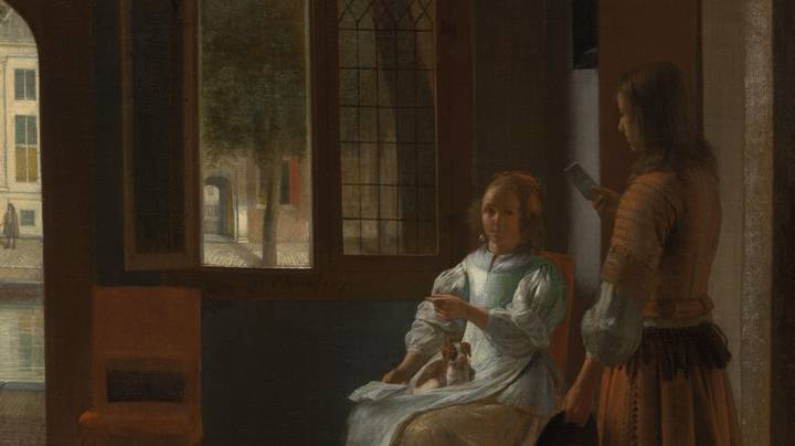 People Reckon This 350 Year Old Painting Could Be Proof Of Time Travel