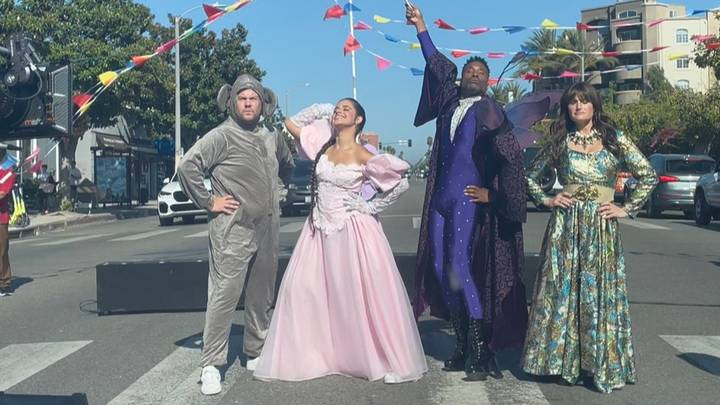 James Corden And Cinderella Cast Ripped For Los Angeles Flash Mob Stunt