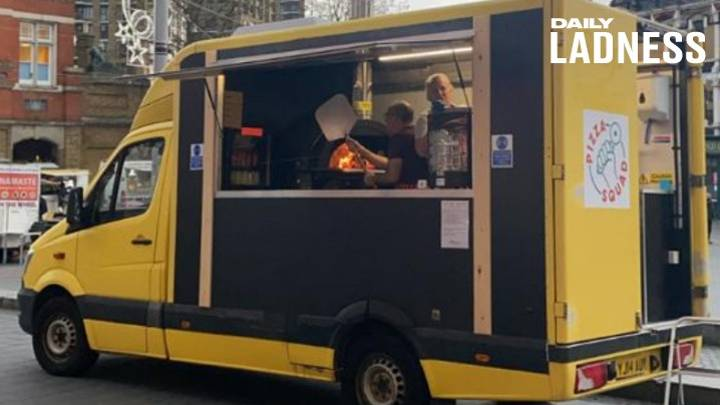Couple Who Lost Jobs To Covid Turn Old Morrisons Van Into Pizza Truck Business