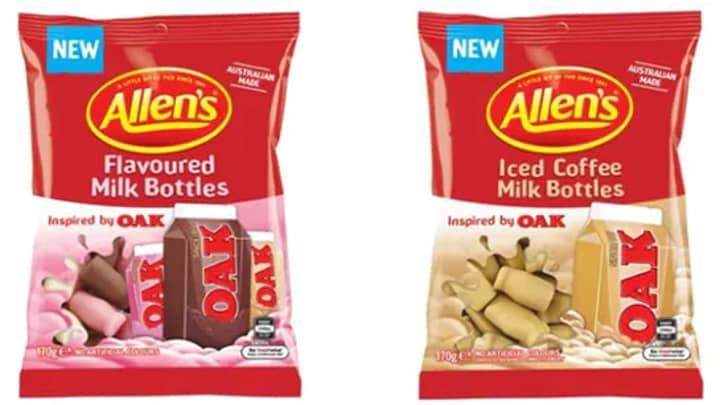 Allen's To Release Milk Bottle Lolly Bags That Taste Like OAK Flavoured Milk