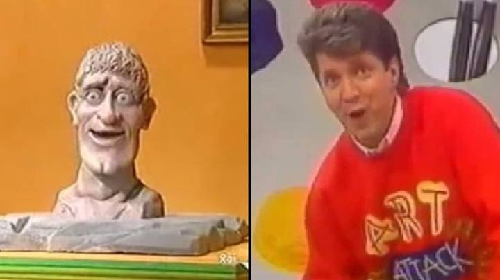 Apparently There's A Rude Word Moulded Into The Head Off 'Art Attack'