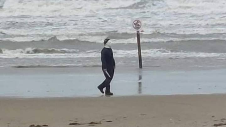 Man Handcuffed By Police For Roaming A Beach During Storm Dressed As Michael Myers