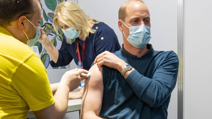 Prince William Puts On 'Gun Show' While Getting His First Covid Vaccine