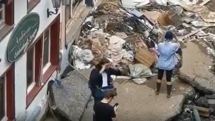 Reporter Suspended After She 'Muddied Herself To Pretend She Helped Flood Clean Up'