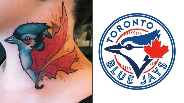 The Girl With The Accidental Blue Jays Neck Tattoo
