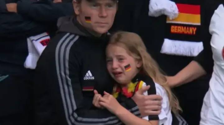 German Girl Pictured Crying After Wembley Defeat Asks For £36,000 Raised To Go To Charity