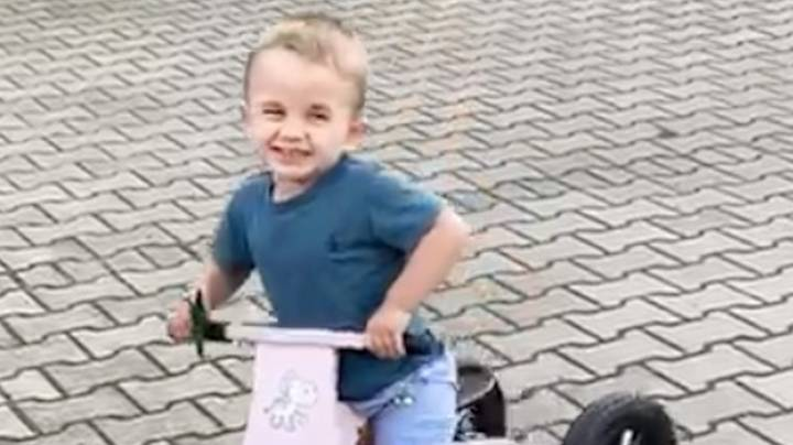 Boy Who Had Both Feet Amputated Rides Bike For First Time