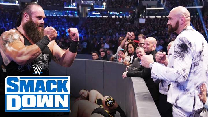 Tyson Fury Confronts Braun Strowman At WWE Smackdown Event In Los Angeles