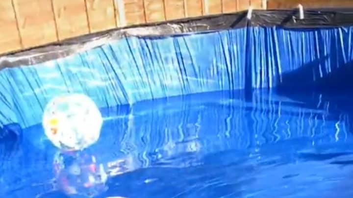 Family Turn Trampoline Into Massive Garden Swimming Pool Amid Heatwave