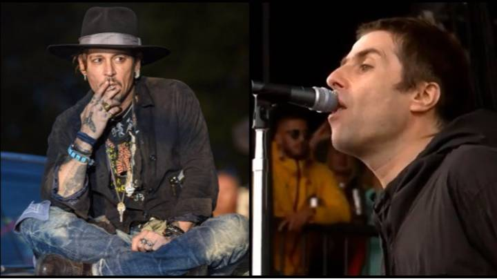 Johnny Depp and Liam Gallagher Had One Hell Of A Reunion At Glastonbury