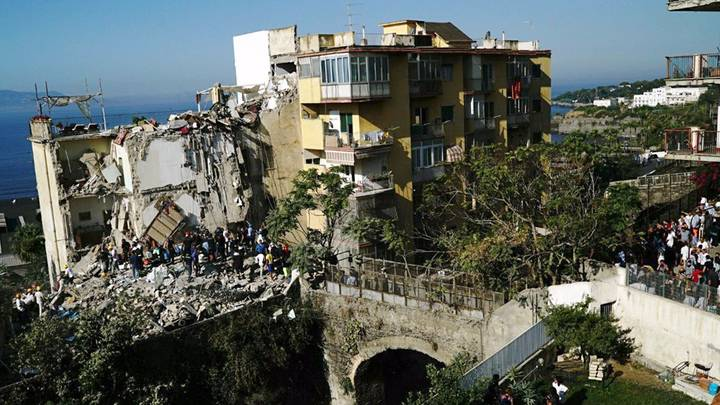 Eight Feared Trapped After Building Collapses In Naples