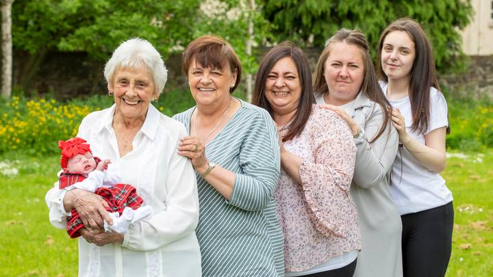 Woman Becomes One Of The UK's Only Great-Great-Great Grandmothers