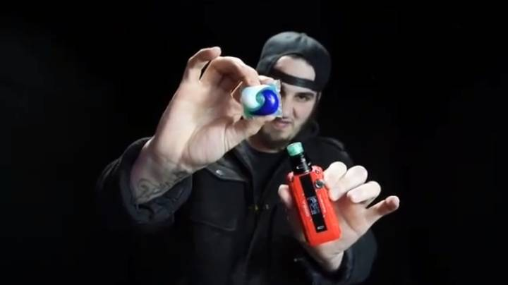 Latest Challenge Trend Gets Weirder As Guy Vapes A Tide Pod