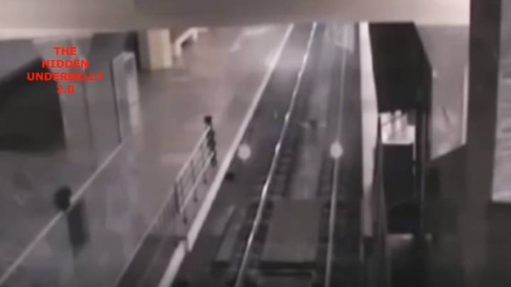 The Eerie Moment A 'Ghost Train' Rolls Into A Station