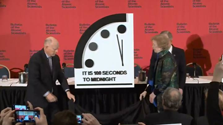 Doomsday Clock Updated To 100 Seconds To Midnight