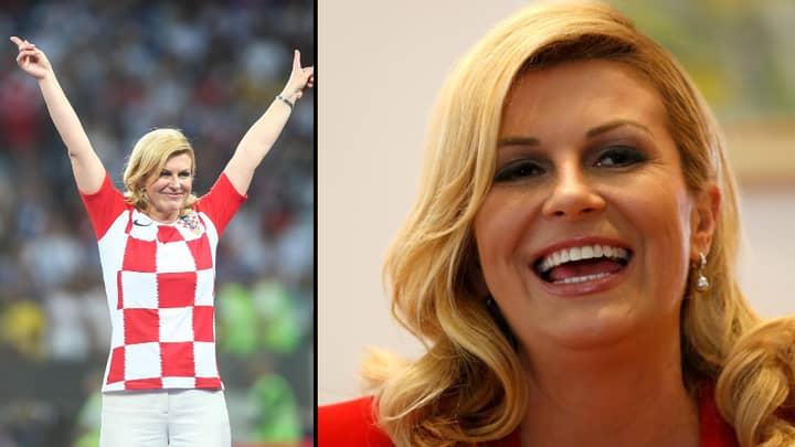 Croatian President Kolinda Grabar-Kitarovic Wins Hearts At World Cup