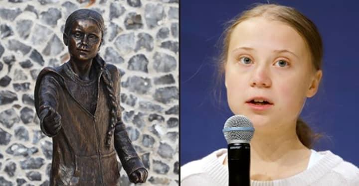 Life-Sized Statue Of Greta Thunberg Unveiled At UK University