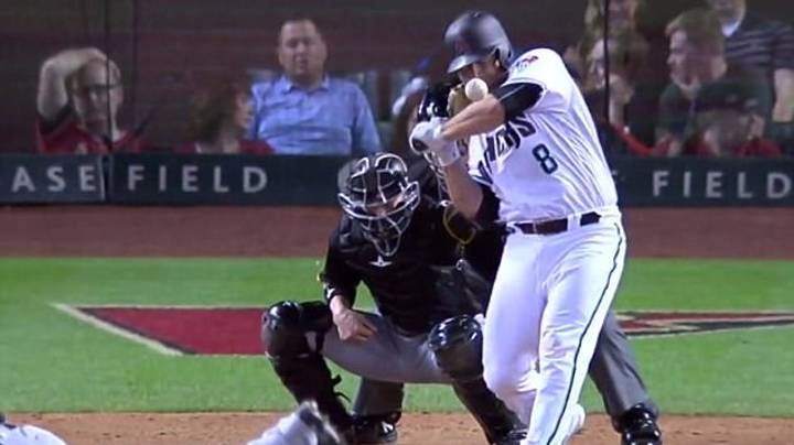 The Moment Chris Iannetta Was Struck In The Face By A 93mph Fastball