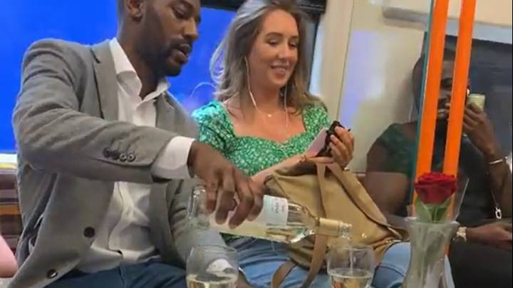 Man Sets Up Romantic Dinner Date Next To Unsuspecting Woman On Train