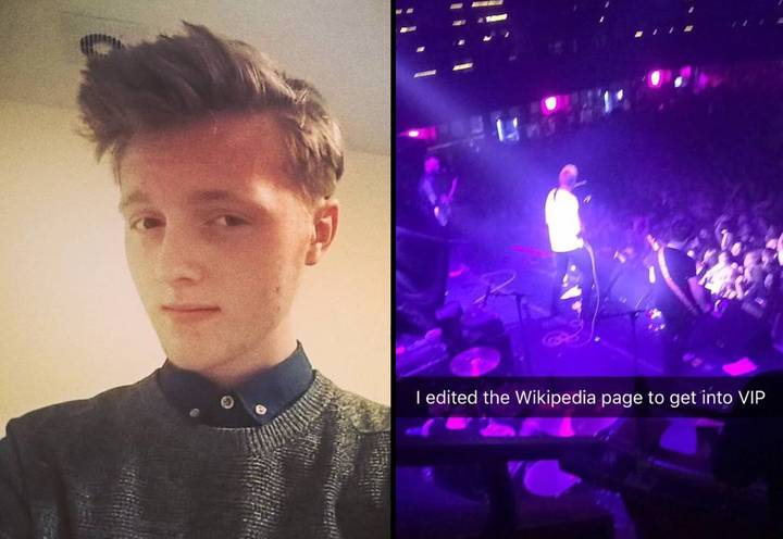 Lad Changes Band's Wikipedia Page To Blag His Way Into VIP Section