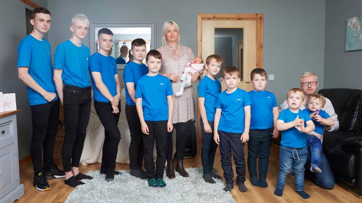Mum Of 10 Boys Finally Gives Birth To A Baby Girl