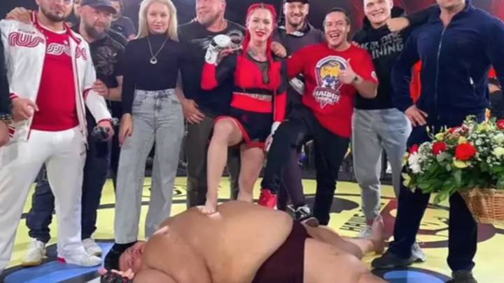 MMA Fighter Absolutely Decks Male Opponent Nearly Four Times Her Size