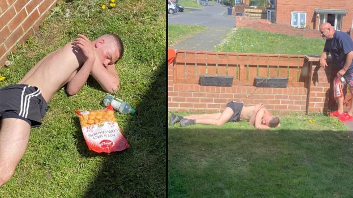 Couple Wake Up To Topless Man On Their Lawn After VE Day Party
