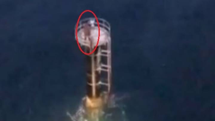Sailor Clings To Beacon For Three Hours Naked After Being Knocked From Boat