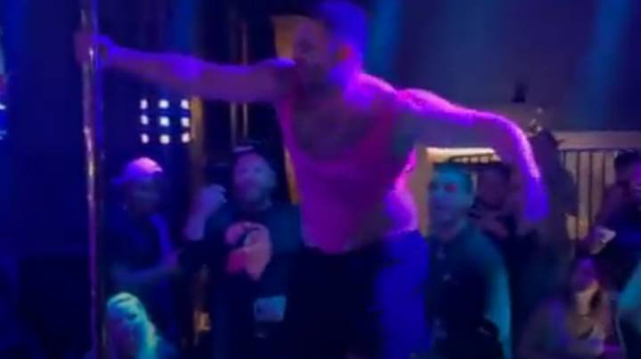Super Bowl Streaker Gets 'Kicked Out Of Club' Wearing Pink Mankini