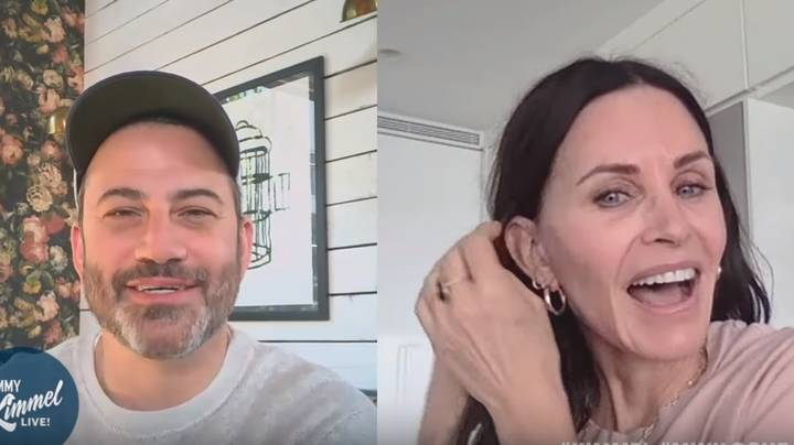 Courteney Cox Is Binge-Watching Friends While In Isolation