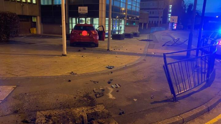 Drunk Driver 'Hands Themselves In' By Crashing Outside Police Station